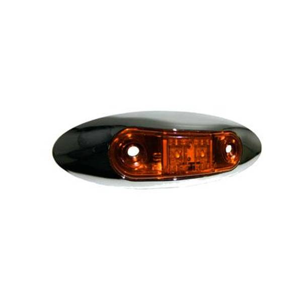 LED Mini Clearance Light with Chrome Bezel