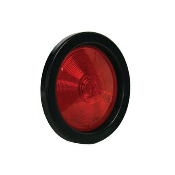 "4"" Round Sealed Stop Tail Turn Signal with Grommet Plug"