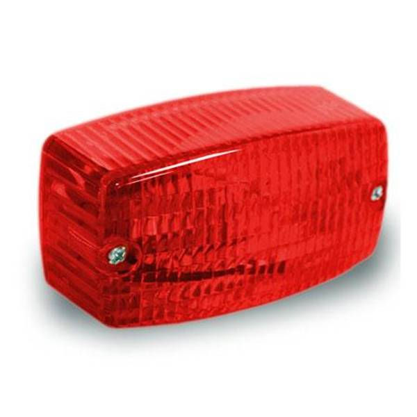 Red Rectangle Surface Mount Light