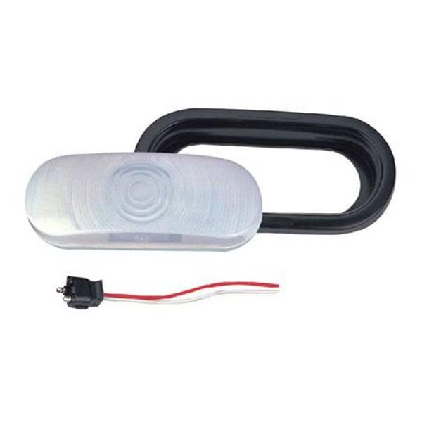 "6"" Oval Back Up Light with Grommet & Plug"