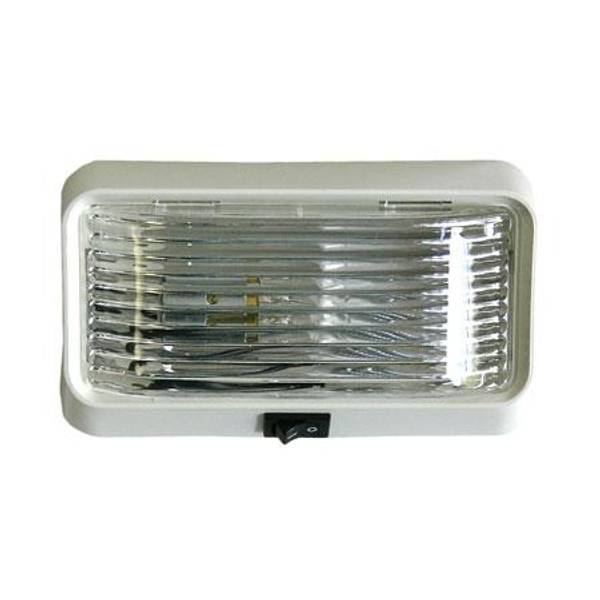 Clear Square Porch & Utility Light