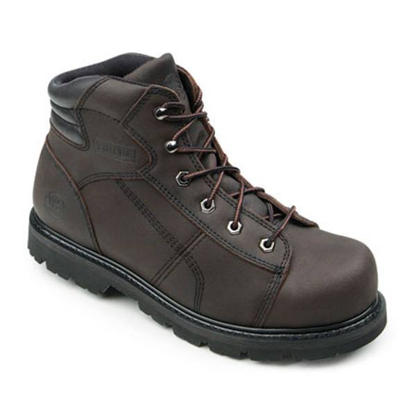 Women's Brown Steel Toe Work Boots