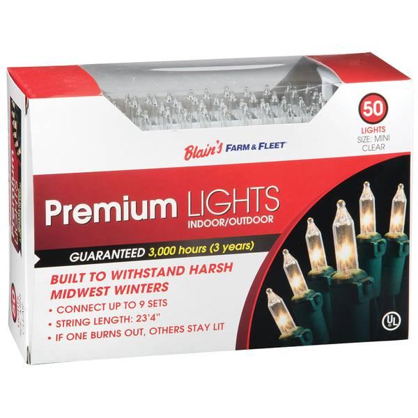 Premium 50-Light Indoor & Outdoor Mini Christmas Lights