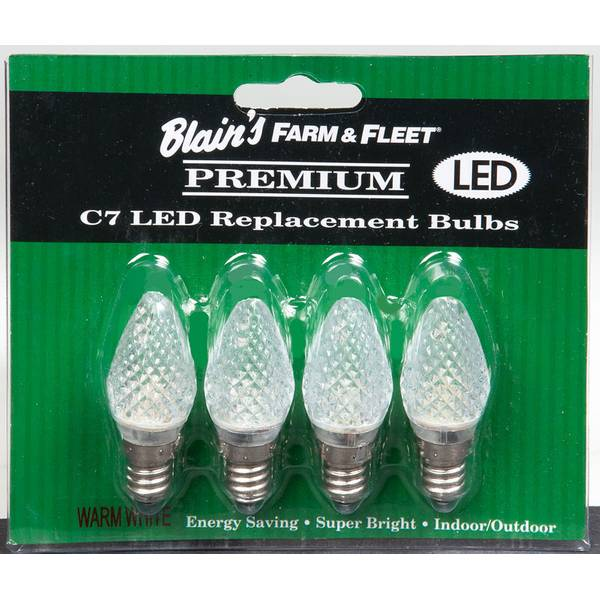 Warm White C7 LED Replacement Bulbs