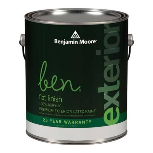 Benjamin Moore Ben 1 Quart Exterior Flat Finish Paint
