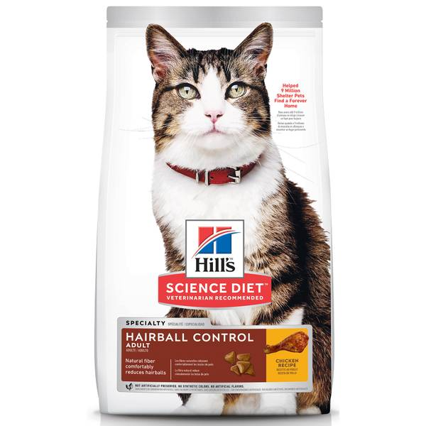 7 lb Adult Hairball Control Dry Cat Food