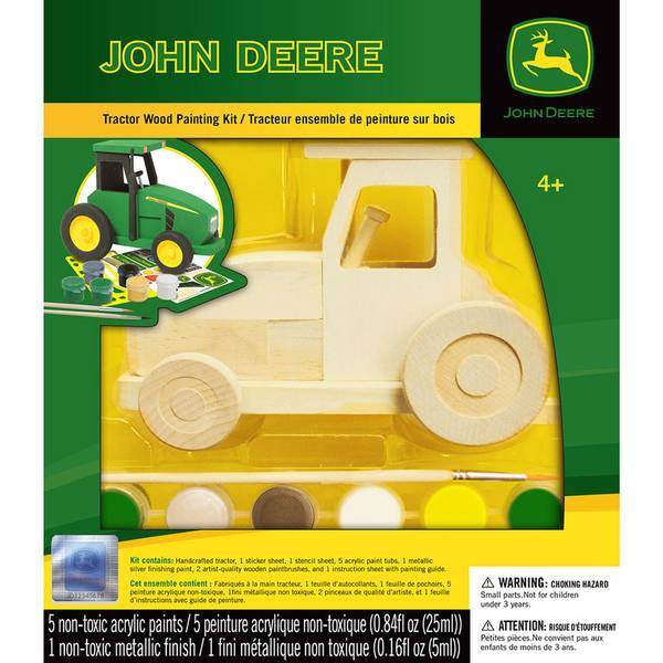 John Deere Dump Truck Wood Paint Kit