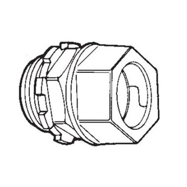 "1"" EMT Compression Connector"