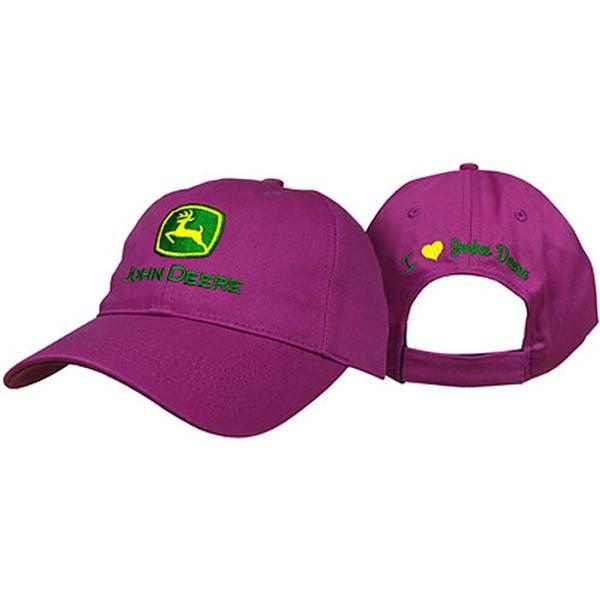 Women's Fuchsia I Love John Deere Logo Hat