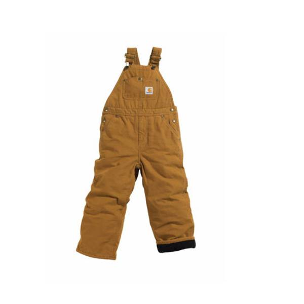 Boys' Quilt Lined Washed Duck Bib Overalls