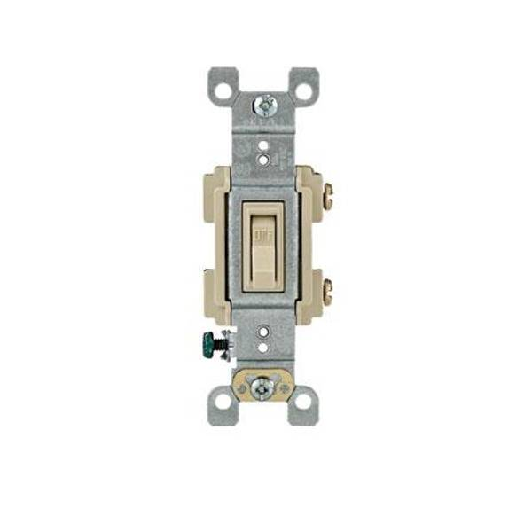 Framed Residential Ivory Toggle Switch