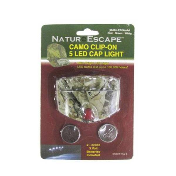 Clip - On 5 LED Cap Light with Batteries