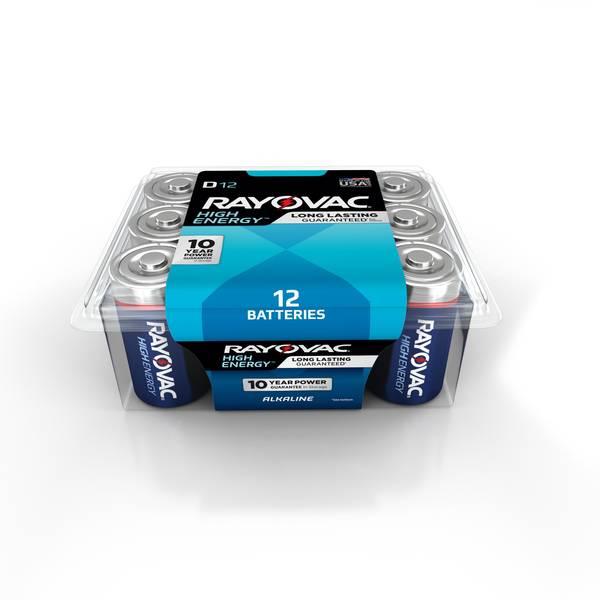 D Alkaline Batteries 12-Pack