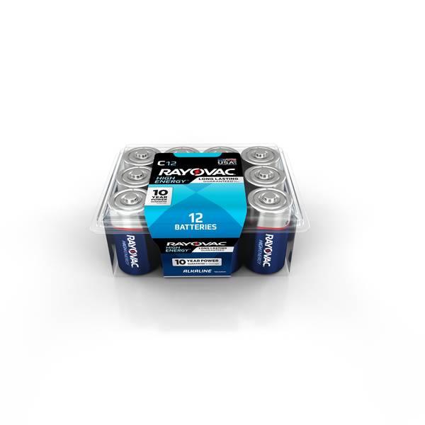 C Alkaline Batteries 12-Pack