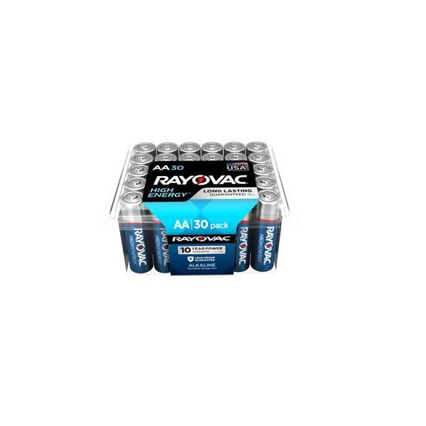AA Alkaline Batteries 30-Pack