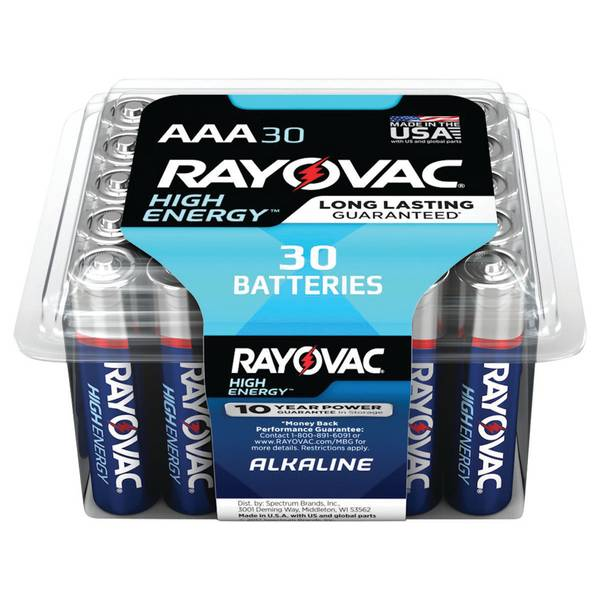 AAA Alkaline Batteries 30-Pack