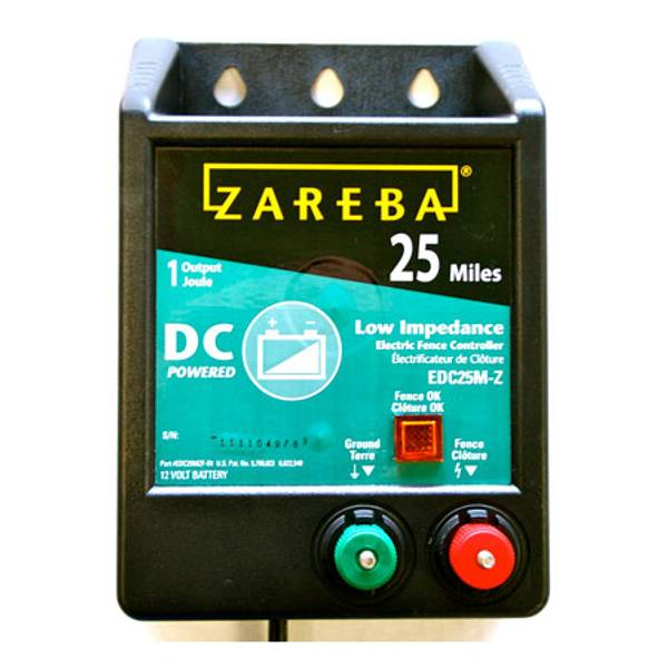 25 Mile DC Electric Fence Energizer