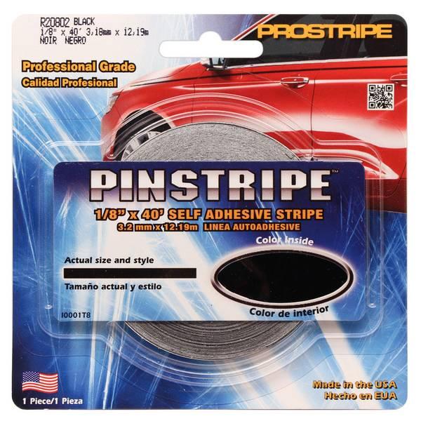 Black Solid Pinstripe