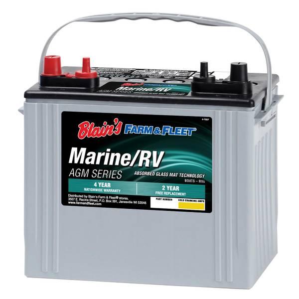 AGM Blue Marine Battery