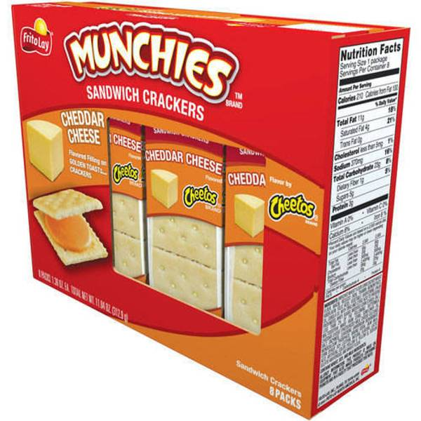 Munchies Cheetos Cheddar Cheese Sandwich Crackers
