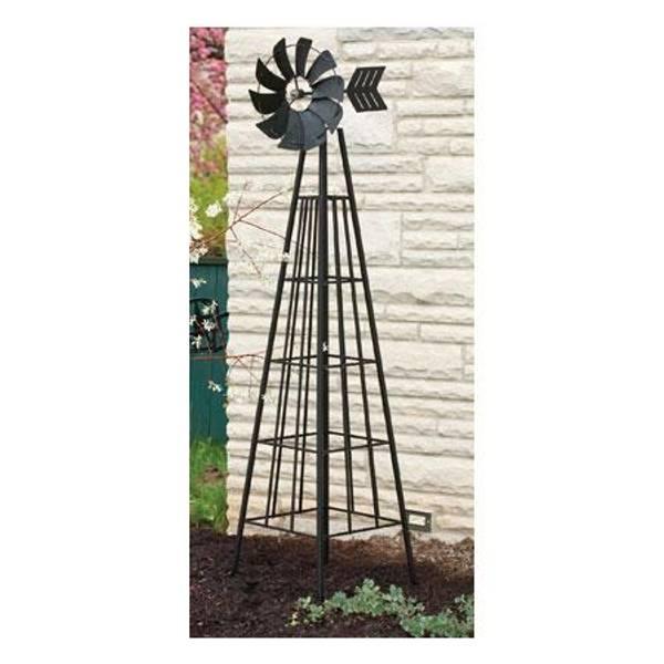 6' Black Obelisk Windmill