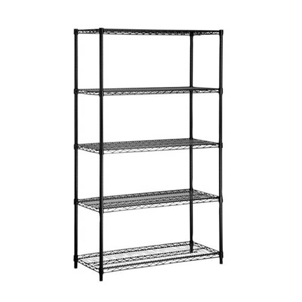 Black 5 Tier Wire Shelf