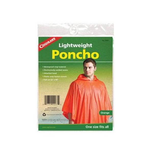 Orange Rain Poncho