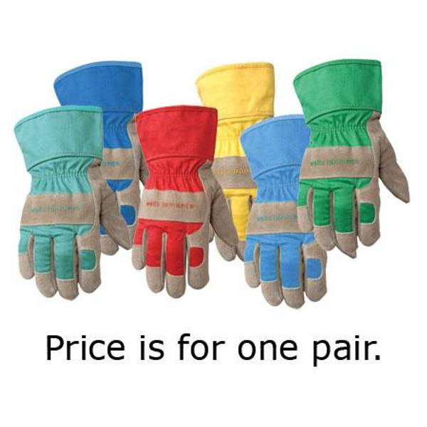 Kids Leather Palm Gloves
