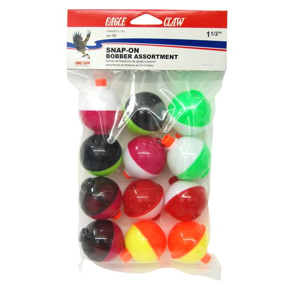Assorted Colors Snap-On Float Bobbers