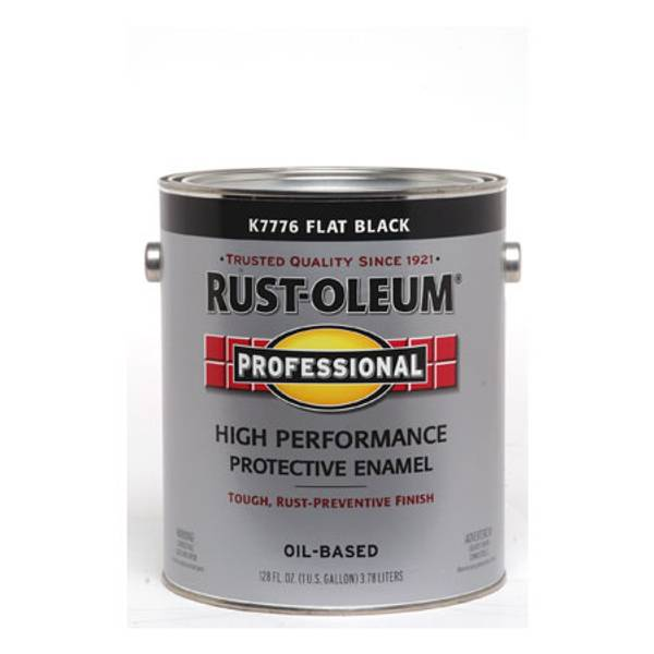 Rust Oleum 1 Gallon Professional High Performance Protective Enamel Flat Oil Based Paint