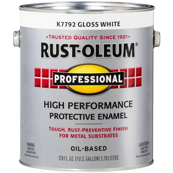 Rust oleum 1 gallon professional high performance for Oil based fence paint