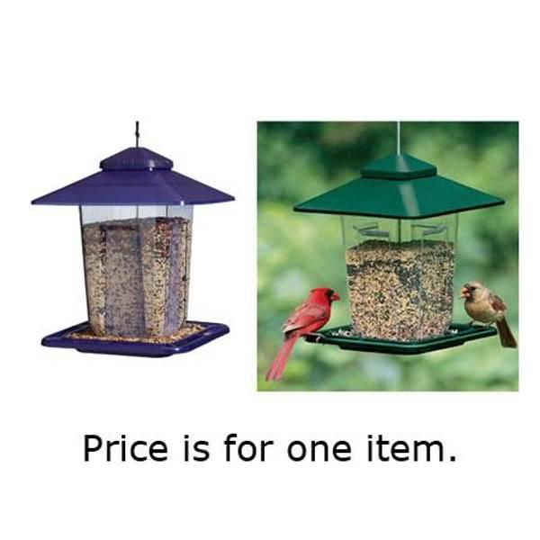 Prairie Style Plastic Bird Feeder