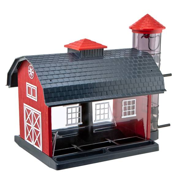 Red Barn Combo Bird Feeder