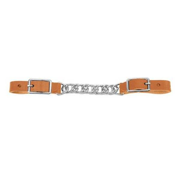 Single Flat Link Chain Curb Strap
