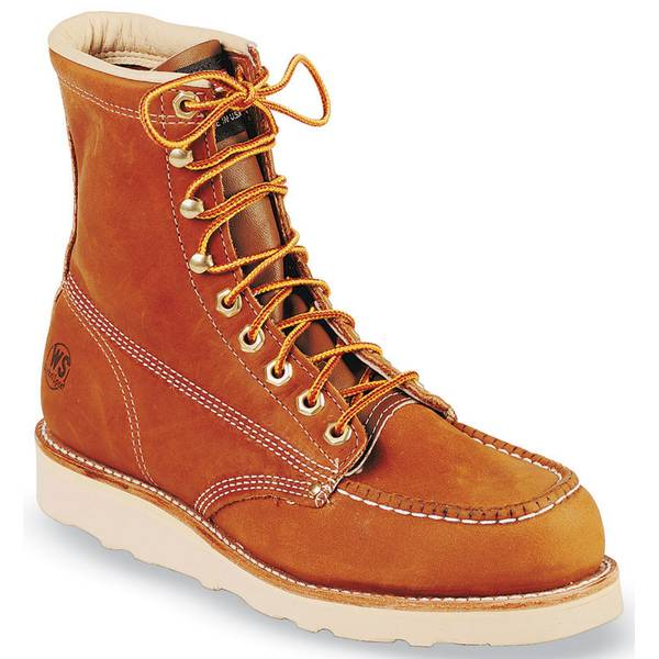 "Men's 8"" Wedge Sole Work Boots"