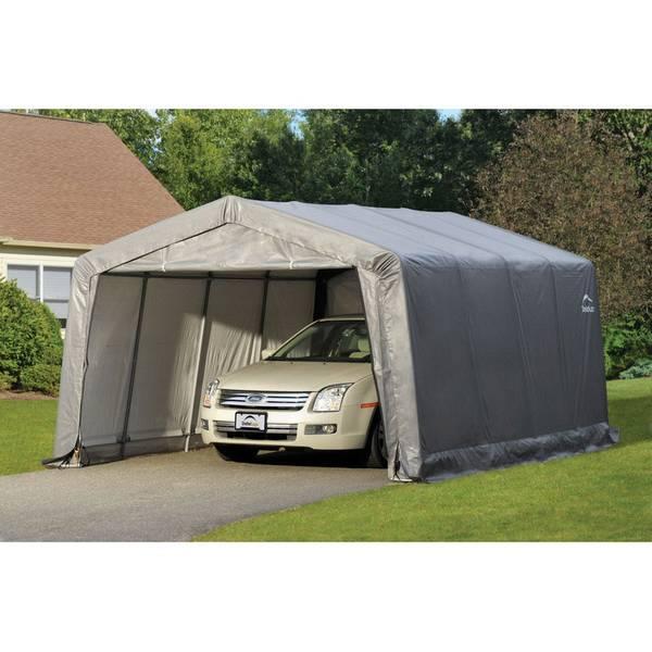 Tractor Supply Shelterlogic : Shelterlogic gray garage in a box