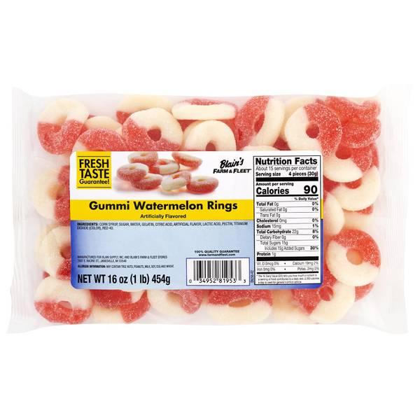 Gummi Fruit Rings
