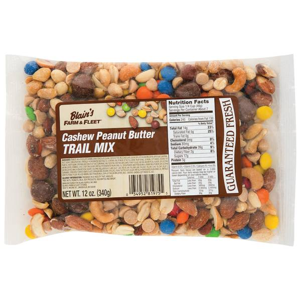 Cashew Peanut Butter Trail Mix