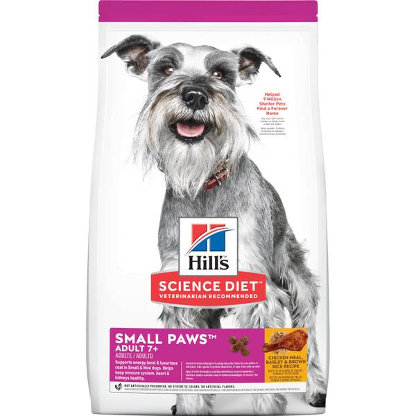 4.5 lb Small & Toy Breed Mature Adult Dog Food