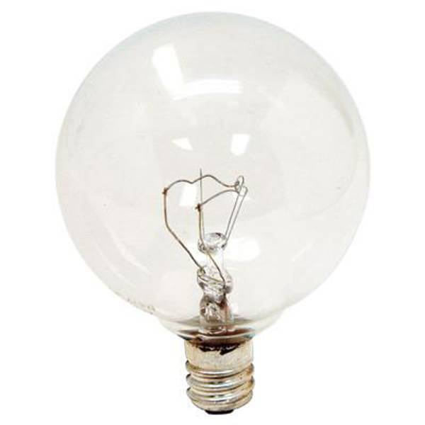 Crystal Clear Candelabra Globe Light Bulb 2 Pack
