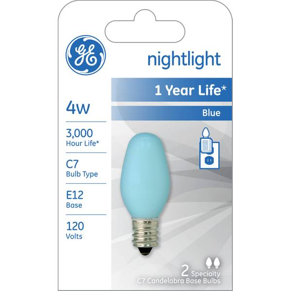 ge c7 night light bulb 2 pack. Black Bedroom Furniture Sets. Home Design Ideas