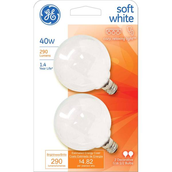 Soft White Global Decorative Light Bulb 2 Pack