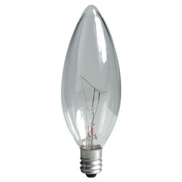 Crystal Clear Multi Use Blunt Tip Chandelier Light Bulb 2 Pack