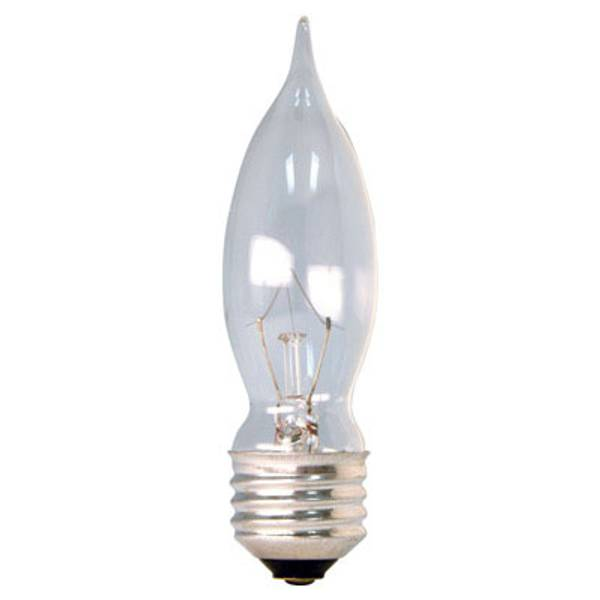 CAM Crystal Clear Bent Tip Candle Medium Base Light Bulb 4 Pack