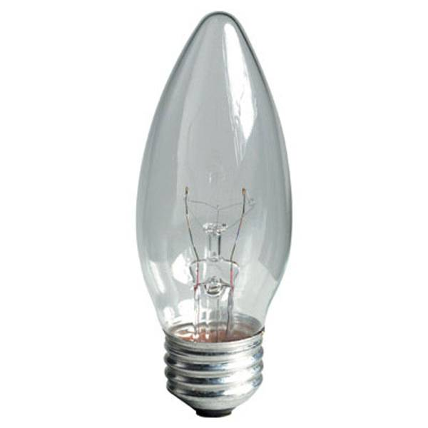 Crystal Clear Medium Base Blunt Tip Light Bulb
