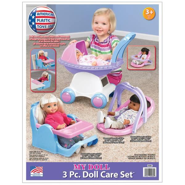 3-Piece Dolls Care Set