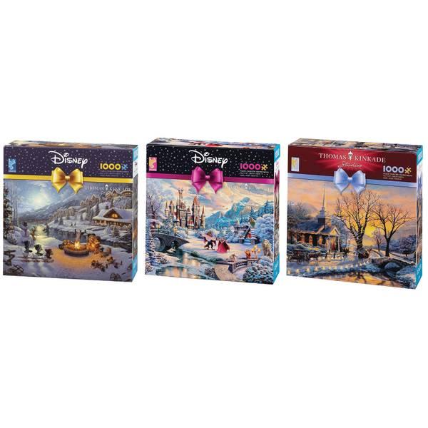 Thomas Kinkade Christmas Puzzle Assortment