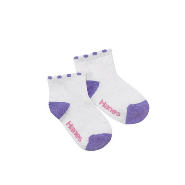 Toddler Girls' 6-Pack Ankle Socks