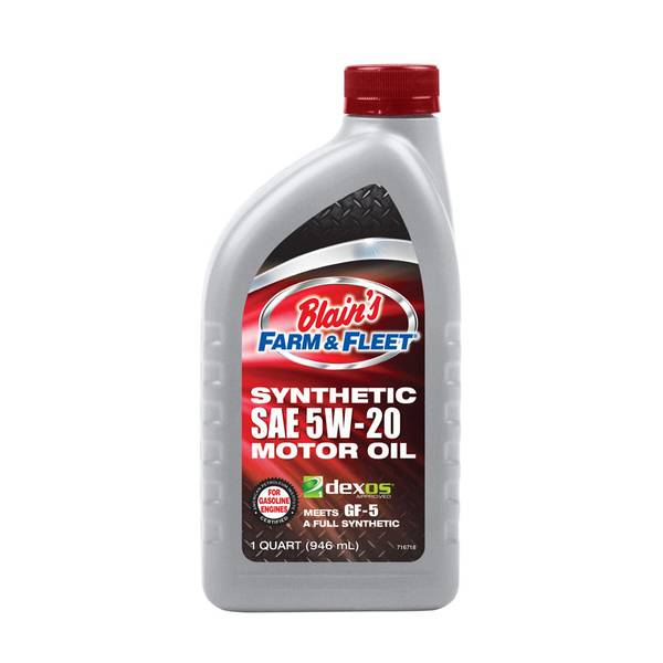 Blain 39 s farm fleet 5w20 full synthetic motor oil for Best non synthetic motor oil