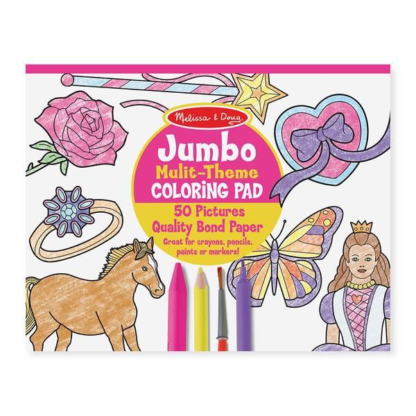 Jumbo Multi-Theme Coloring Pad